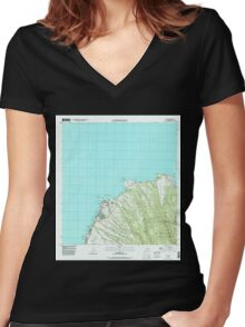 USGS TOPO Map Hawaii HI Napili 349621 1997 24000 Women's Fitted V-Neck T-Shirt