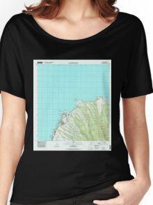 USGS TOPO Map Hawaii HI Napili 349621 1997 24000 Women's Relaxed Fit T-Shirt