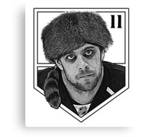 Coonskin Anze Kopitar Tee - LA Kings (two-color design) Canvas Print