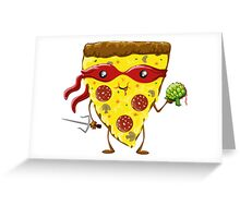 pizza turtle Greeting Card