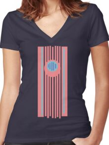 Between Lines Women's Fitted V-Neck T-Shirt
