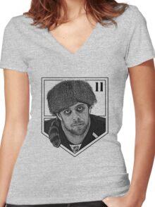 Coonskin Anze Kopitar Tee - LA Kings Women's Fitted V-Neck T-Shirt
