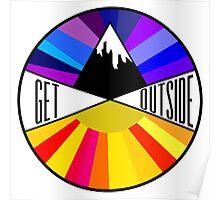 Get Outside   Mountain & Sun Poster