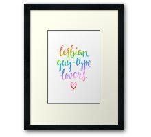 Lesbian gay-type lovers Framed Print