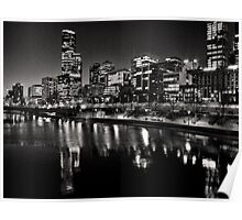 Melbourne City views from Southbank Poster
