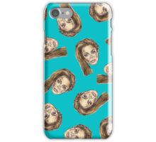 Beyonce Pattern | Turquoise iPhone Case/Skin