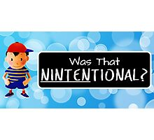 Was that Ninten-tional? Photographic Print