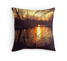 Sunset in Italy Throw Pillow
