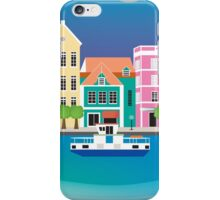 Curacao - Skyline Illustration by Loose Petals iPhone Case/Skin