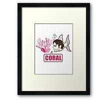 Coral - Rick Grimes Framed Print