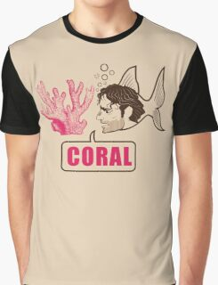 Coral - Rick Grimes Graphic T-Shirt