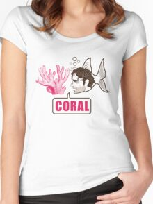 Coral - Rick Grimes Women's Fitted Scoop T-Shirt