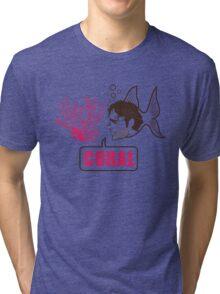 Coral - Rick Grimes Tri-blend T-Shirt
