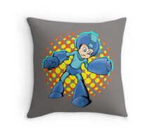 Mega Man In A Mega Jam Throw Pillow