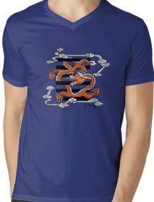 Flying dragon in the sky Mens V-Neck T-Shirt