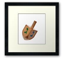 Hanukkah Dreidel Symbol Isolated Framed Print