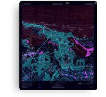 USGS TOPO Map Puerto Rico PR San Juan 362269 1957 20000 Inverted Canvas Print
