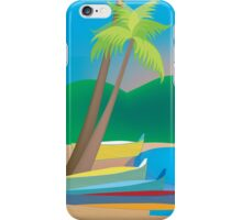 St. Lucia - Skyline Illustration by Loose Petals iPhone Case/Skin