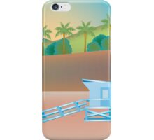 Santa Monica, California - Skyline Illustration by Loose Petals iPhone Case/Skin