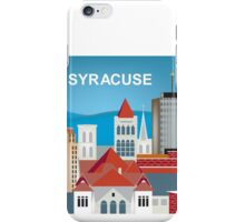 Syracuse, New York - Skyline Illustration by Loose Petals iPhone Case/Skin