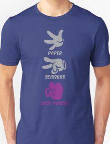 Paper Scissors Dick Punch Unisex T-Shirt