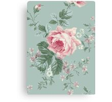 French Chic Vintage Roses Canvas Print