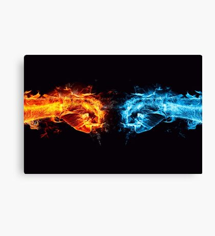 Fire water fist Canvas Print