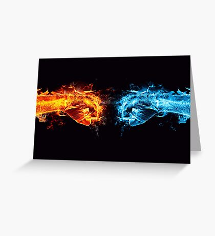 Fire water fist Greeting Card