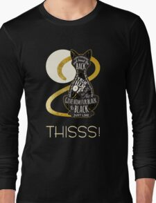 Hocus Pocus Cat Spell - Just. Like. This! Long Sleeve T-Shirt