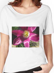 Purple Tulip Macro Women's Relaxed Fit T-Shirt