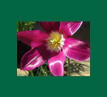 Purple Tulip Macro Womens Fitted T-Shirt