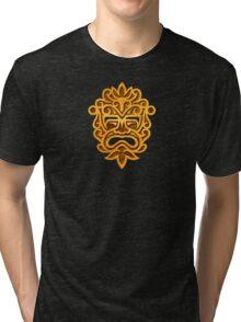Stylish Stone Mayan Mask Tri-blend T-Shirt