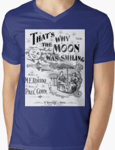 That's Why The Moon Was Smiling Mens V-Neck T-Shirt