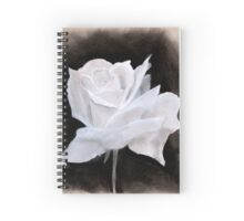 Chalk & Charcoal White Rose Drawing Notebook Spiral Notebook