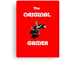 The Original Gamer White Words Canvas Print