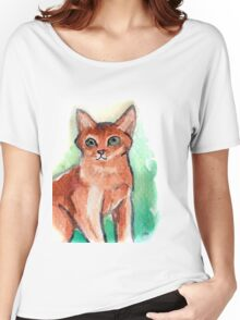 Abyssinian Cat Women's Relaxed Fit T-Shirt