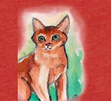 Abyssinian Cat Tri-blend T-Shirt