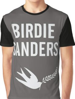 Birdie Sanders Funny Political Design with Dove Graphic T-Shirt