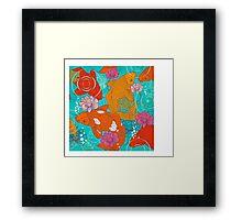 Japanese Koi Carp Fish - Square 1 Framed Print