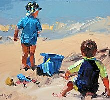 Sand Play Petite II by Claire McCall