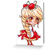 'Rev' Red Velvet - My Original Character - Chibi 2 Greeting Card