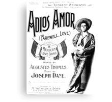 Adios Amor Canvas Print