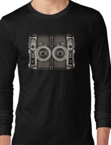 Double YASHICA_B&W Long Sleeve T-Shirt