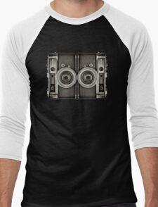 Double YASHICA_B&W Men's Baseball ¾ T-Shirt