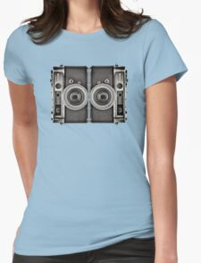Double YASHICA_B&W Womens Fitted T-Shirt