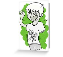 High Five Ghost Greeting Card