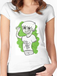 High Five Ghost Women's Fitted Scoop T-Shirt