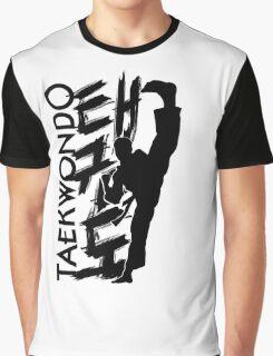 Taekwondo Kick Boy - Korean Martial Art Graphic T-Shirt