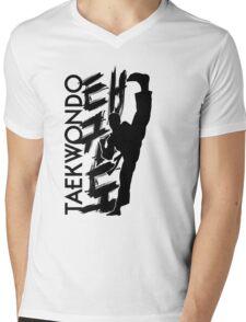 Taekwondo Kick Boy - Korean Martial Art Mens V-Neck T-Shirt