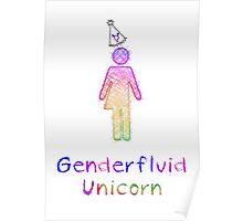 Genderfluid Uni Pride Poster
